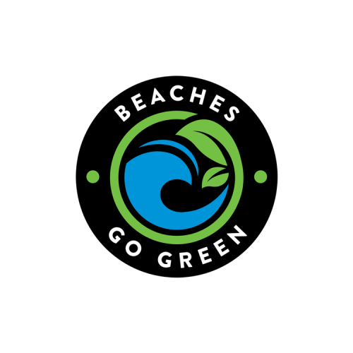 Beaches Go Green Color Logo
