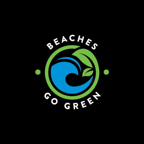Beaches Go Green Color Logo
