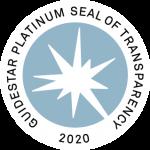 Guide Star Platinum Seal of Transparency 2020 Logo
