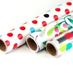 shiny wrapping paper